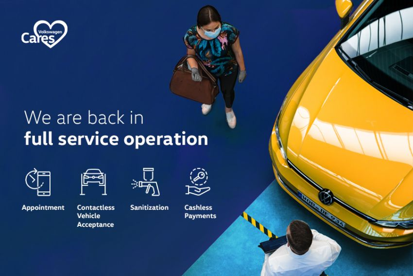 Volkswagen Malaysia reopens service centres nationwide; collection and drop-off at selected outlets Image #1115398