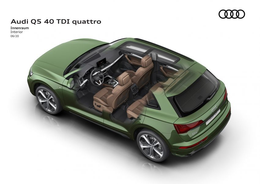 2020 Audi Q5 facelift debuts – updated styling; MIB3 infotainment system; mild hybrid, PHEV powertrains Image #1137885