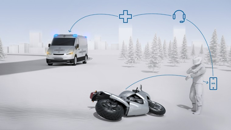 Bosch Help Connect for motorcycle emergencies Image #1127649
