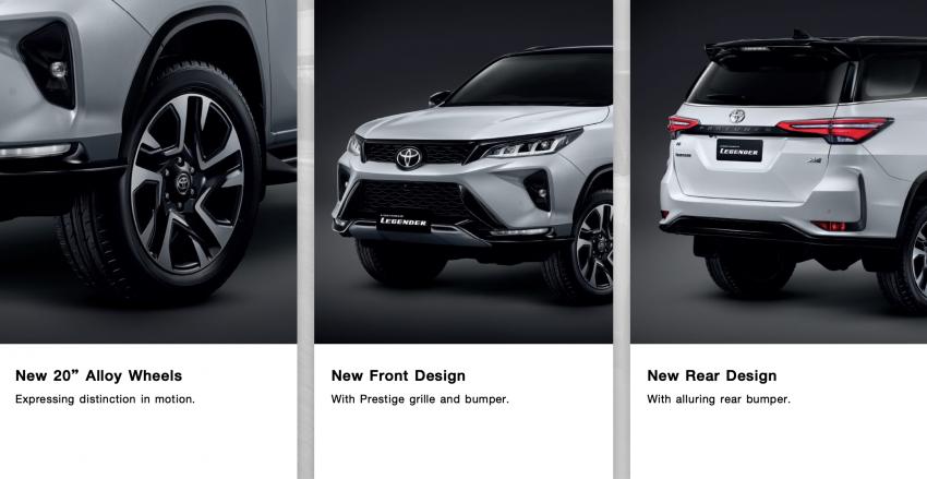 Toyota Fortuner facelift 2020 didedahkan – enjin 2.8L berkuasa 204 PS/500 Nm, varian Lagender untuk Thai Image #1127062
