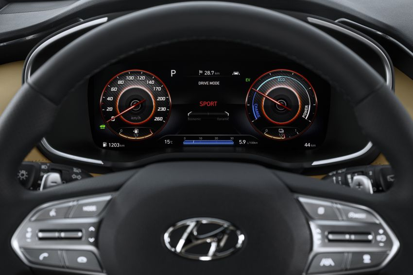2021 Hyundai Santa Fe facelift revealed – SUV sports bold front end, redesigned cabin, new platform Image #1126171