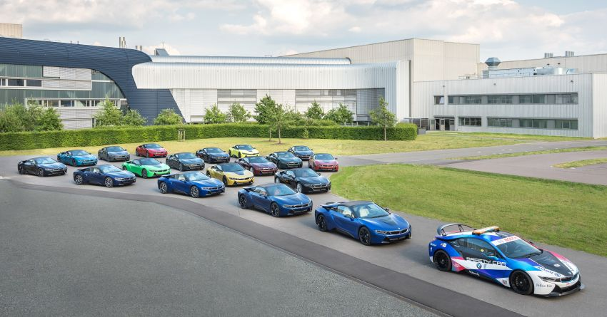 BMW i8 production ends with 18 special coloured cars Image #1137122
