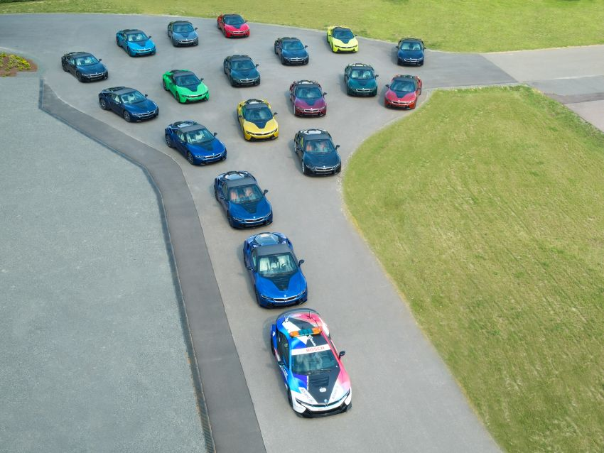 BMW i8 production ends with 18 special coloured cars Image #1137124