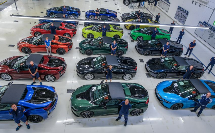 BMW i8 production ends with 18 special coloured cars Image #1137201