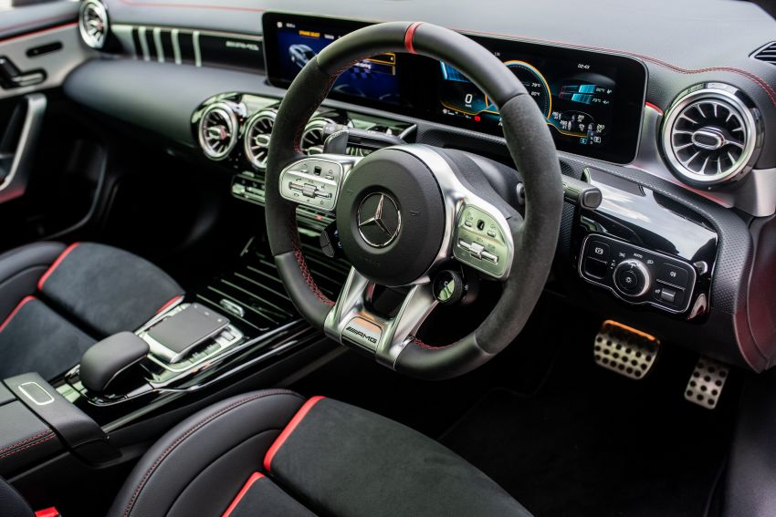 C118 Mercedes-AMG CLA 45S 4Matic+ launched in Malaysia – 421 PS, 4.0s four-door coupe, RM449k Image #1124244