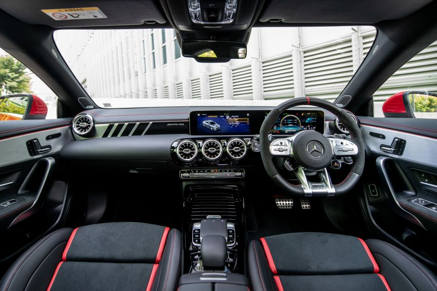 C118 Mercedes-AMG CLA 45S 4Matic+ launched in Malaysia – 421 PS, 4.0s four-door coupe, RM449k Image #1124271