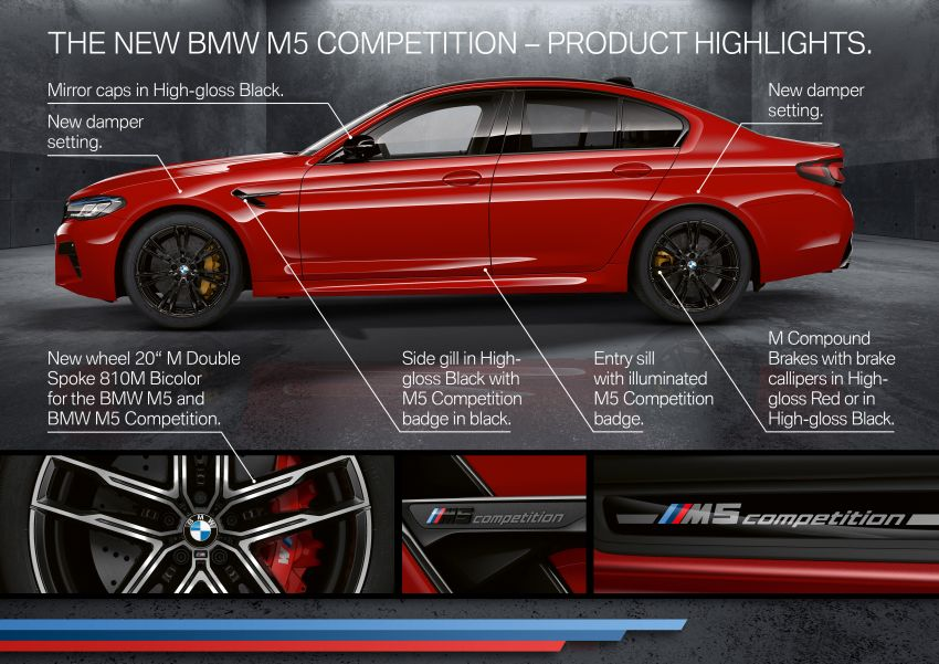 F90 BMW M5 facelift revealed – revised styling and dynamics; 4.4L twin-turbo V8; up to 625 PS, 750 Nm Image #1131628