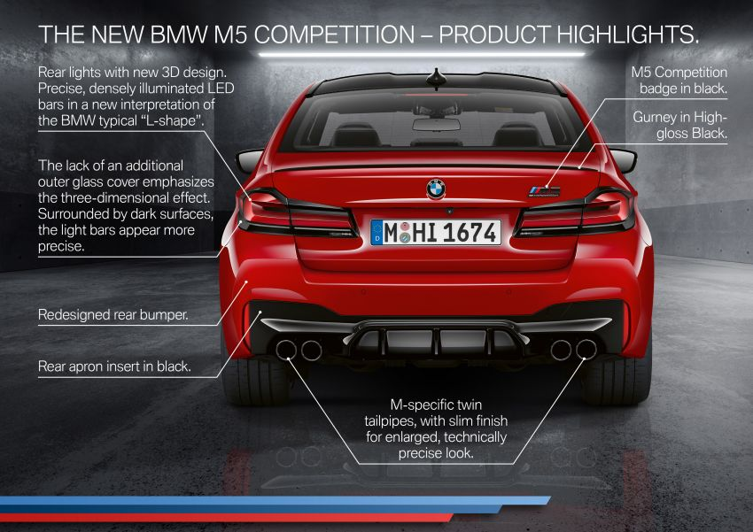 F90 BMW M5 facelift revealed – revised styling and dynamics; 4.4L twin-turbo V8; up to 625 PS, 750 Nm Image #1131630