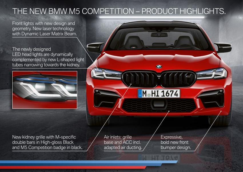 F90 BMW M5 facelift revealed – revised styling and dynamics; 4.4L twin-turbo V8; up to 625 PS, 750 Nm Image #1131633