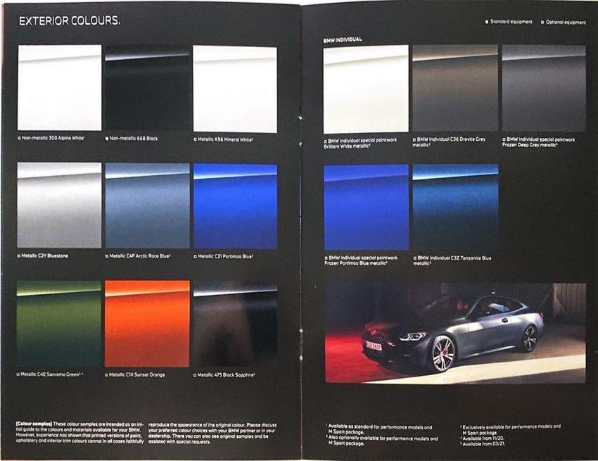 G22 BMW 4 Series gets revealed in leaked brochures Image #1123953