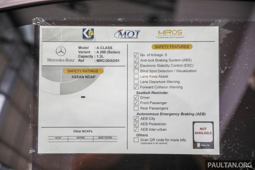 GALLERY: V177 Mercedes-Benz A-Class Sedan in Malaysia – A250 AMG Line vs A200 Progressive Line Image #1128779
