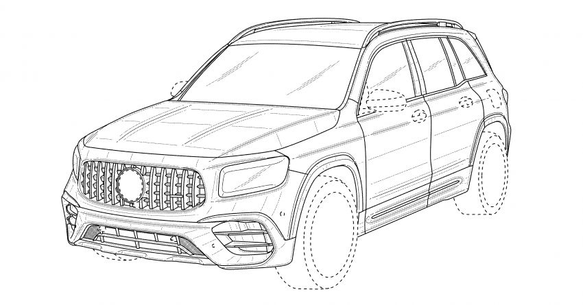 X247 Mercedes-AMG GLB45 hinted in new patent Image #1129625