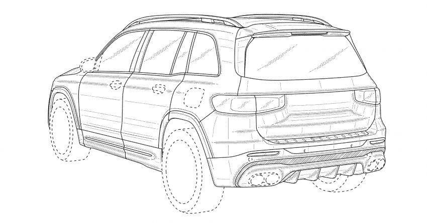 X247 Mercedes-AMG GLB45 hinted in new patent Image #1129626