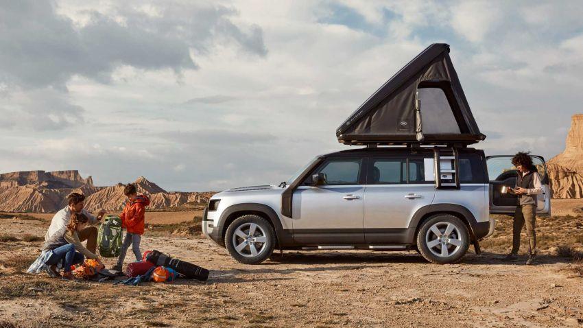 Land Rover Defender 110 2020 kini ditawarkan dengan opsyen khemah bumbung, dihasilkan oleh Autohome Image #1134986
