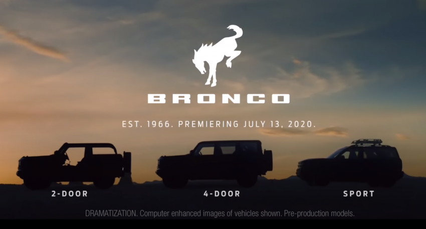 Ford shows off 2021 Bronco 'Built Wild' family – three models to kick off the new 'outdoor lifestyle brand' Image #1141779
