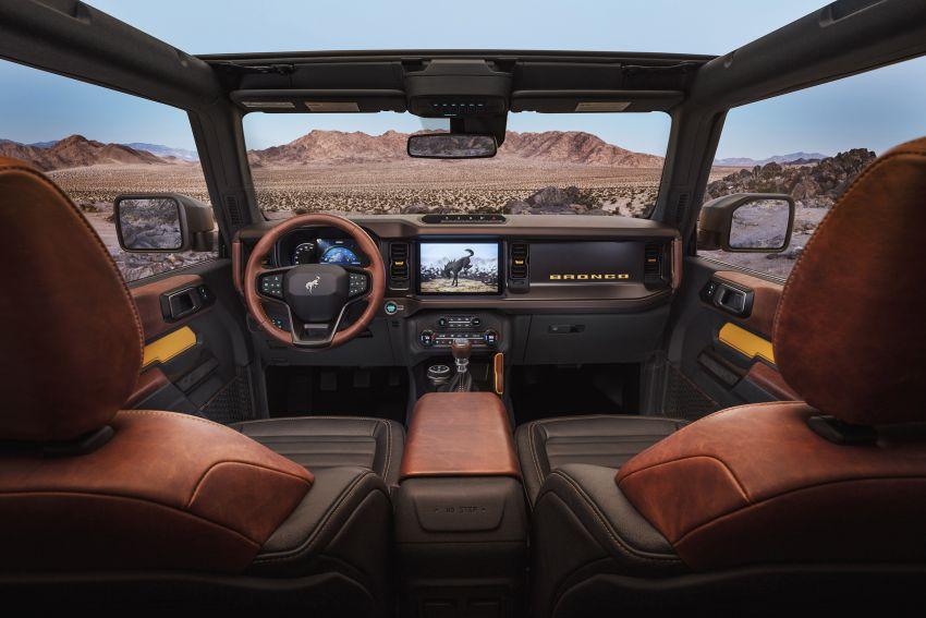 Ford Bronco 2021 didedahkan – pintu, bumbung dan panel badan boleh ditanggal, 2 pilihan enjin EcoBoost Image #1145676