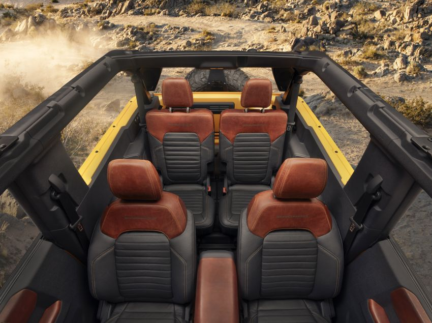 Sixth-generation Ford Bronco debuts – two EcoBoost petrols, removable panels and washable interior Image #1145092