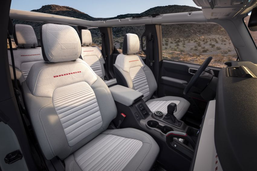 Sixth-generation Ford Bronco debuts – two EcoBoost petrols, removable panels and washable interior Image #1145085