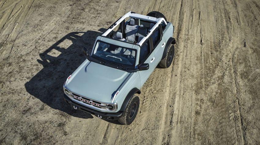 Ford Bronco 2021 didedahkan – pintu, bumbung dan panel badan boleh ditanggal, 2 pilihan enjin EcoBoost Image #1145665