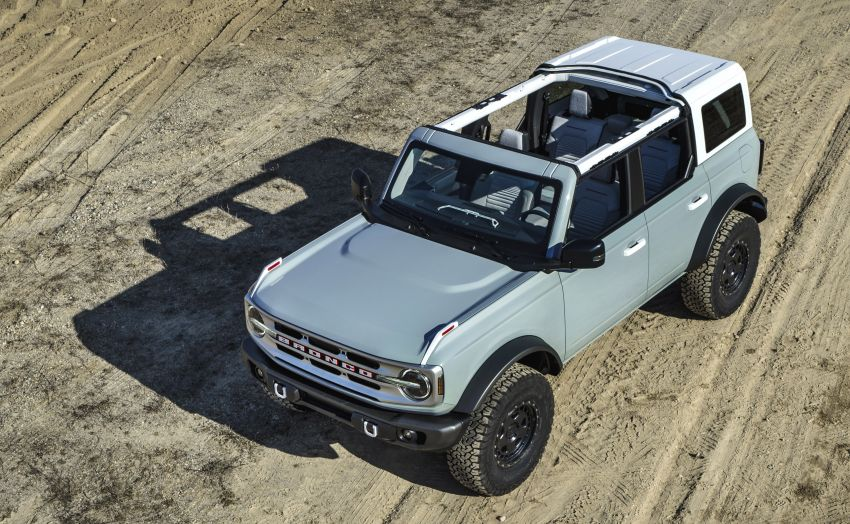 Sixth-generation Ford Bronco debuts – two EcoBoost petrols, removable panels and washable interior Image #1145062