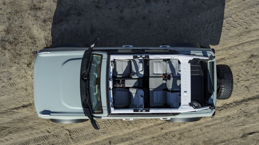 Sixth-generation Ford Bronco debuts – two EcoBoost petrols, removable panels and washable interior Image #1145057