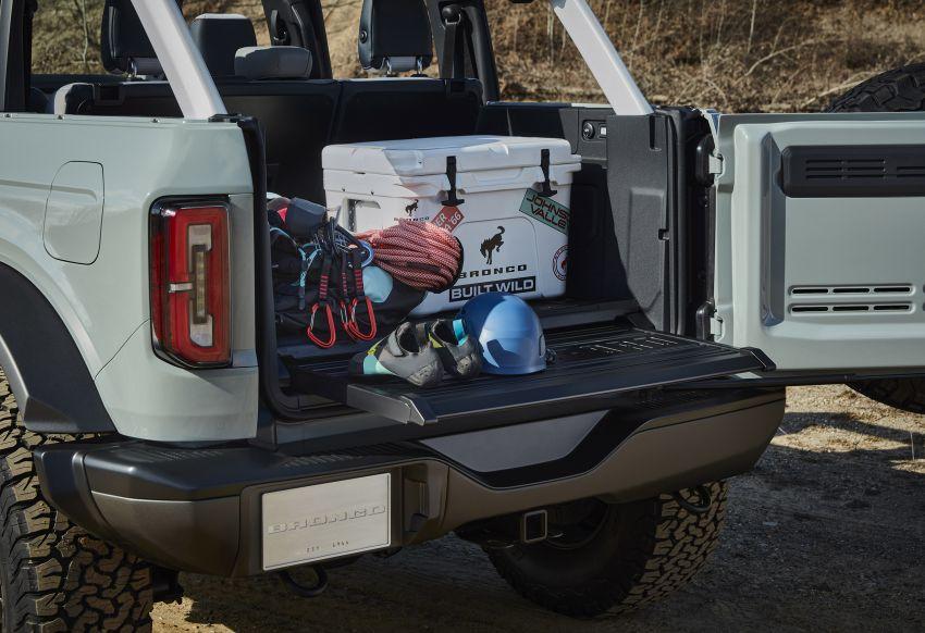 Ford Bronco 2021 didedahkan – pintu, bumbung dan panel badan boleh ditanggal, 2 pilihan enjin EcoBoost Image #1145673