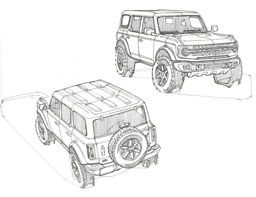 Sixth-generation Ford Bronco debuts – two EcoBoost petrols, removable panels and washable interior Image #1145125