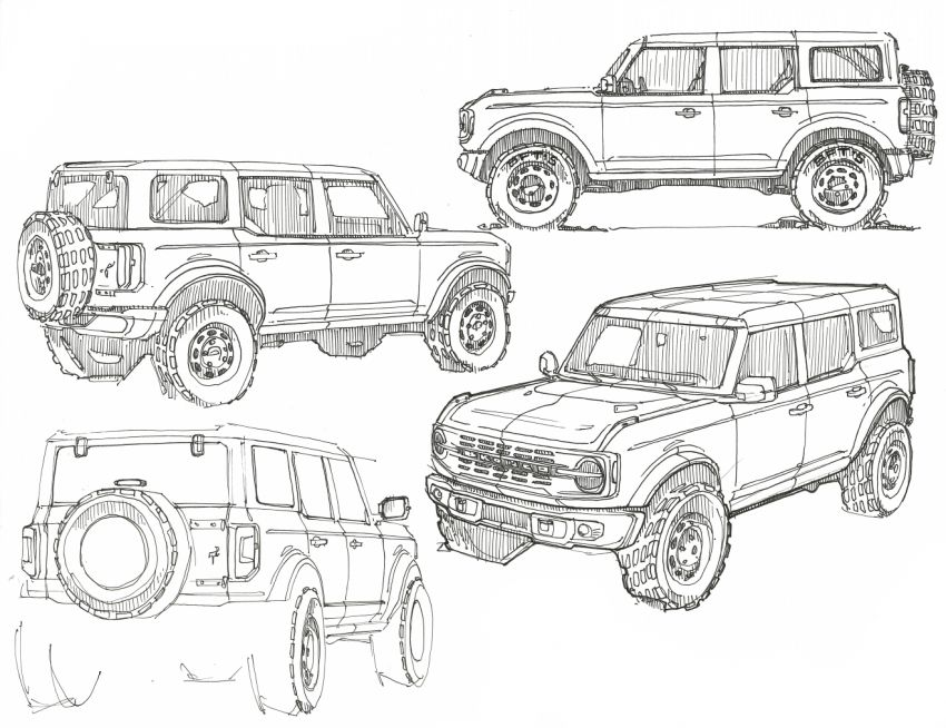 Sixth-generation Ford Bronco debuts – two EcoBoost petrols, removable panels and washable interior Image #1145124