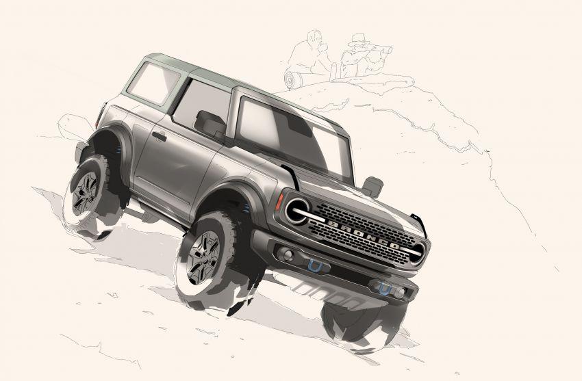 Ford Bronco 2021 didedahkan – pintu, bumbung dan panel badan boleh ditanggal, 2 pilihan enjin EcoBoost Image #1145734