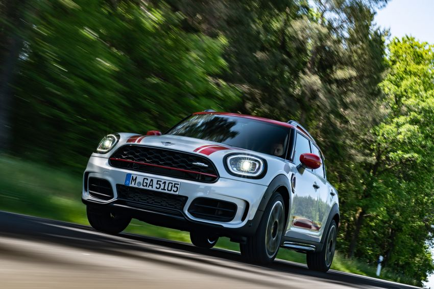2020 F60 MINI John Cooper Works Countryman facelift debuts – updated styling; new kit; 306 PS and 450 Nm Image #1150407