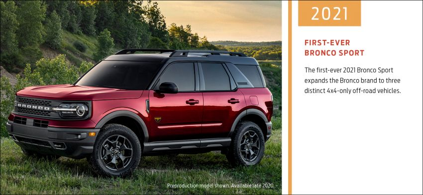 Sixth-generation Ford Bronco debuts – two EcoBoost petrols, removable panels and washable interior Image #1145096