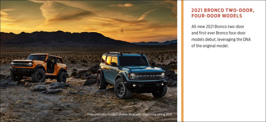 Sixth-generation Ford Bronco debuts – two EcoBoost petrols, removable panels and washable interior Image #1145095