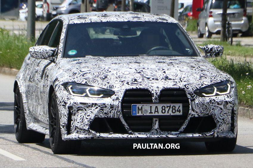 SPYSHOT: BMW M3 G80 akhirnya juga dapat gril besar Image #1149907