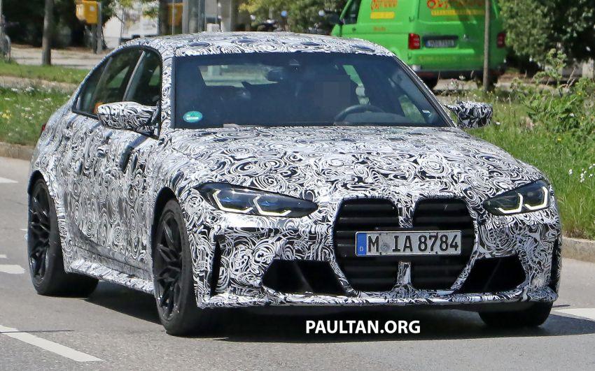 SPYSHOT: BMW M3 G80 akhirnya juga dapat gril besar Image #1149904