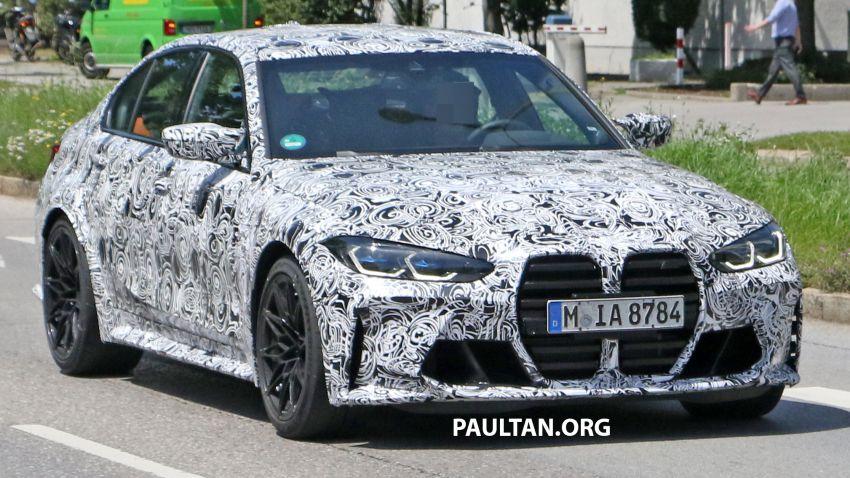 SPYSHOT: BMW M3 G80 akhirnya juga dapat gril besar Image #1149903