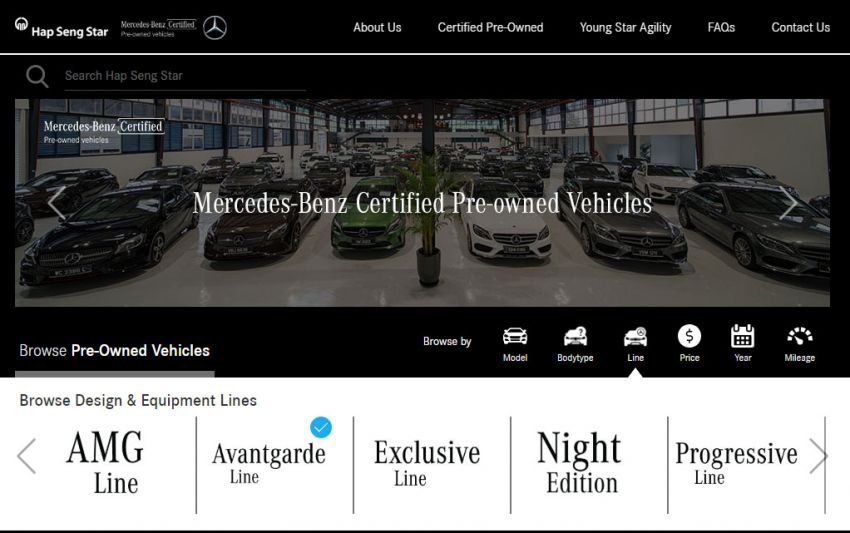 Hap Seng Star enhances Mercedes-Benz Certified online site with new features – more filters, watchlist Image #1151457