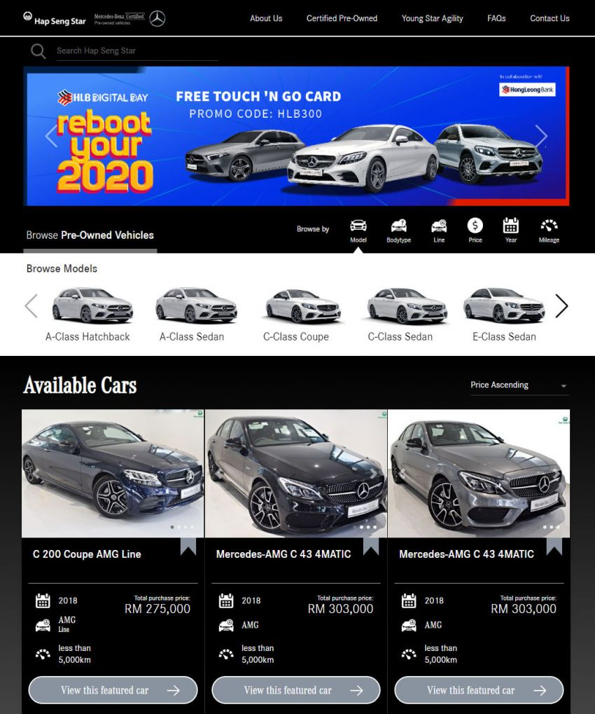 Hap Seng Star enhances Mercedes-Benz Certified online site with new features – more filters, watchlist Image #1151459