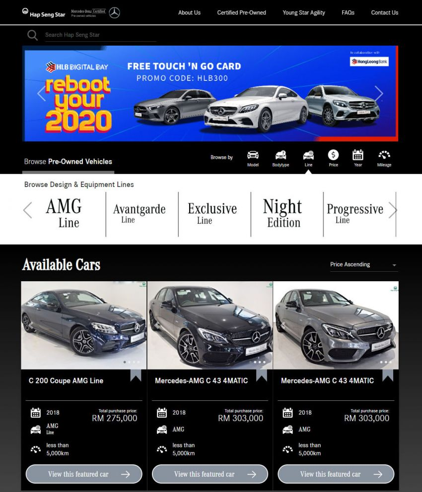 Hap Seng Star enhances Mercedes-Benz Certified online site with new features – more filters, watchlist Image #1151460