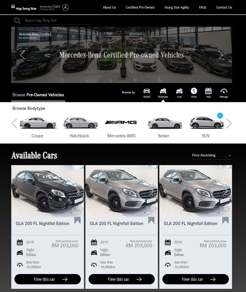 Hap Seng Star enhances Mercedes-Benz Certified online site with new features – more filters, watchlist Image #1151461