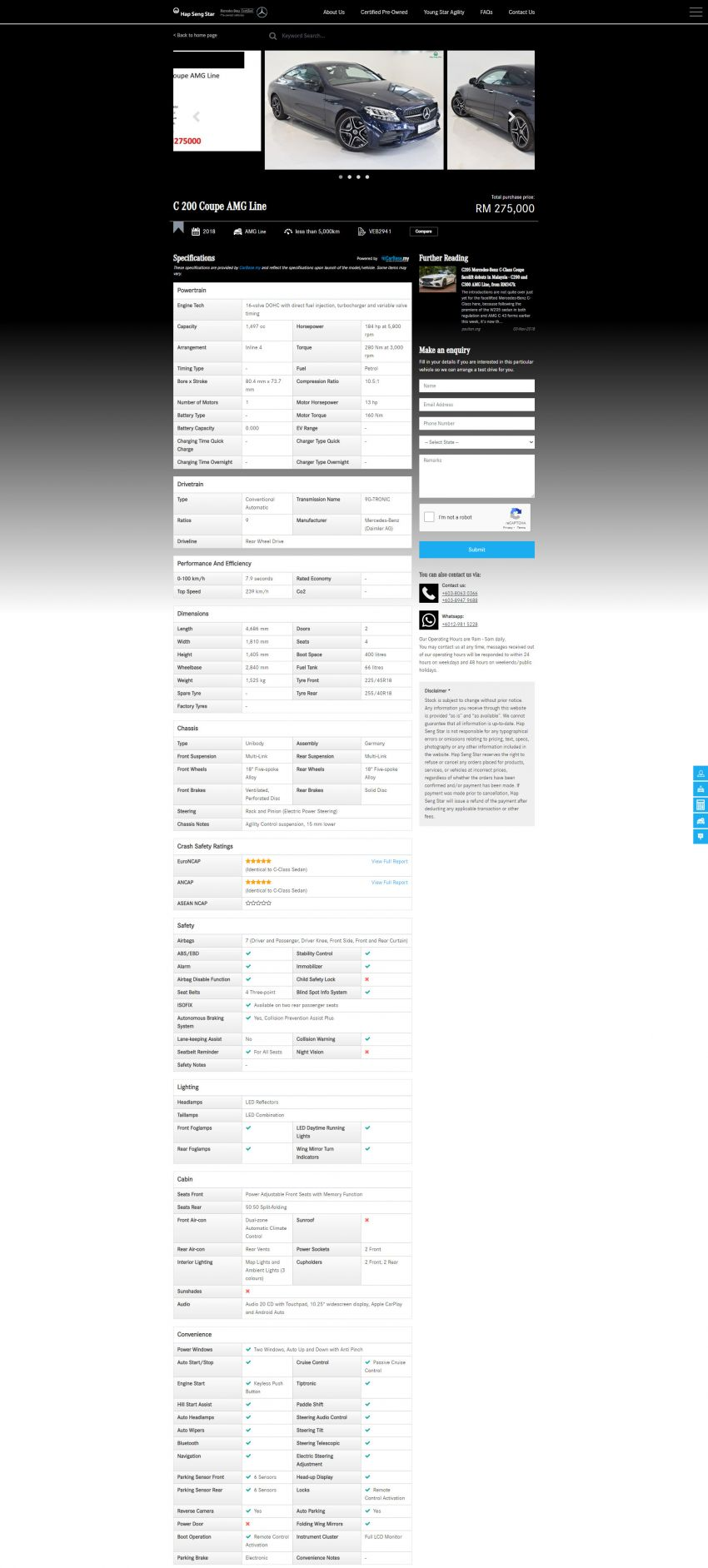 Hap Seng Star enhances Mercedes-Benz Certified online site with new features – more filters, watchlist Image #1151463