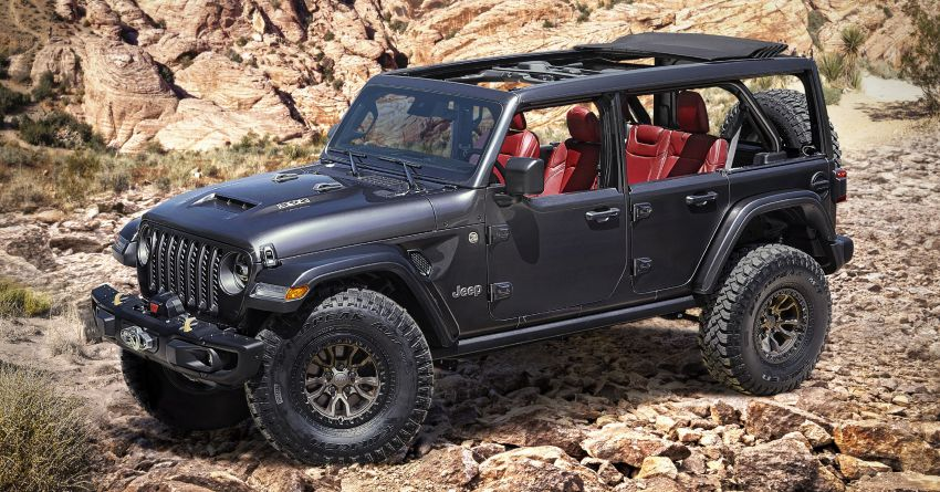 Jeep Wrangler Rubicon 392 concept debuts – 6.4 litre HEMI V8; 450 hp, 610 Nm; 0-96 km/h under 5 seconds Image #1145158