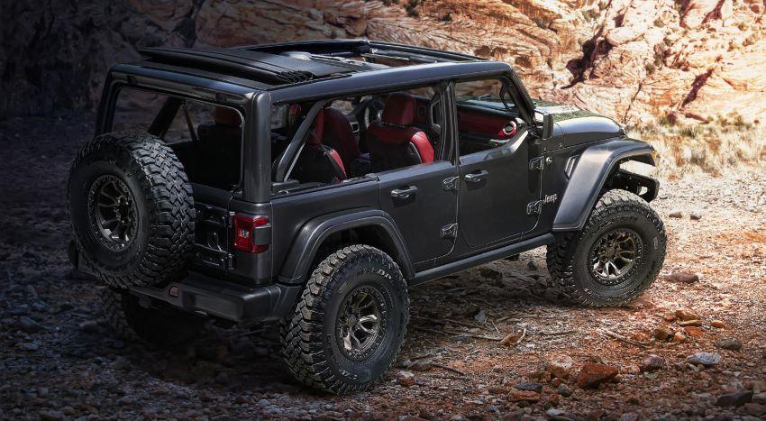 Jeep Wrangler Rubicon 392 concept debuts – 6.4 litre HEMI V8; 450 hp, 610 Nm; 0-96 km/h under 5 seconds Image #1145159