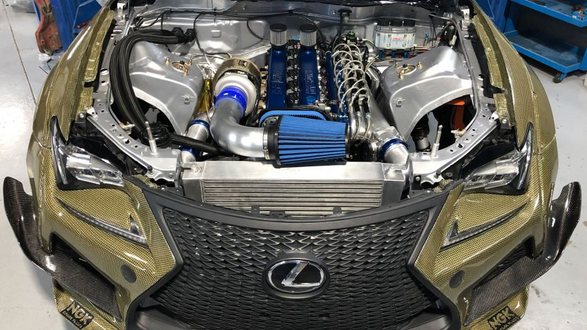 Lexus RC F Carbon Kevlar debuts – competition-spec drift car with 2JZ turbo engine; 1,200 hp and 1,464 Nm Image #1153651