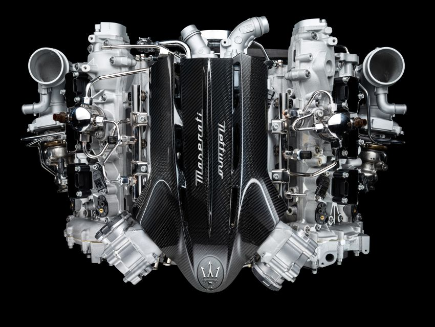 Maserati MC20's Nettuno engine detailed – 3L twin-turbo V6 with F1-derived tech; 630 PS and 730 Nm Image #1139539