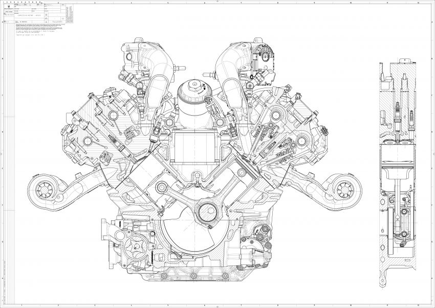 Maserati MC20's Nettuno engine detailed – 3L twin-turbo V6 with F1-derived tech; 630 PS and 730 Nm Image #1139548
