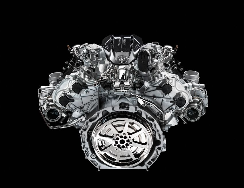 Maserati MC20's Nettuno engine detailed – 3L twin-turbo V6 with F1-derived tech; 630 PS and 730 Nm Image #1139540