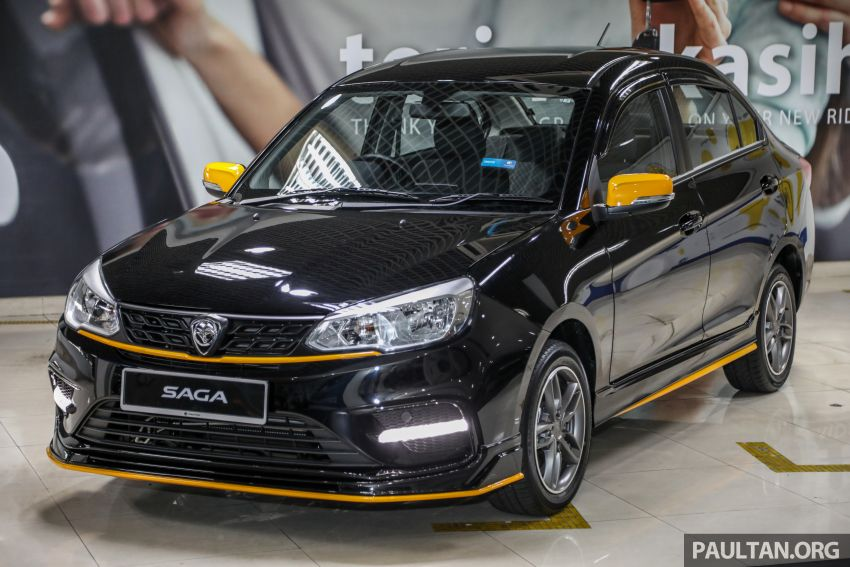 2020 Proton Saga Anniversary Edition launched – 35th birthday special in black-yellow, 1,100 units, RM39,300 Image #1143014