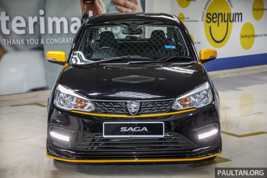 2020 Proton Saga Anniversary Edition launched – 35th birthday special in black-yellow, 1,100 units, RM39,300 Image #1143017