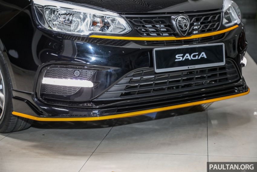 2020 Proton Saga Anniversary Edition launched – 35th birthday special in black-yellow, 1,100 units, RM39,300 Image #1143020
