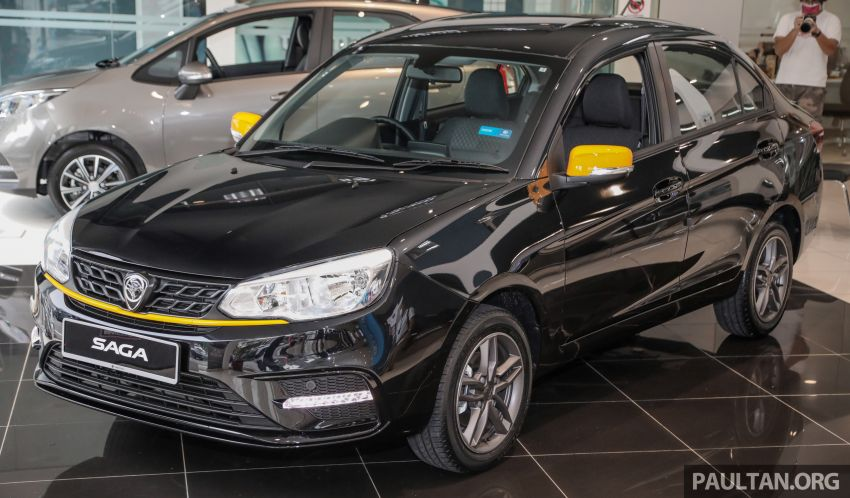 2020 Proton Saga Anniversary Edition launched – 35th birthday special in black-yellow, 1,100 units, RM39,300 Image #1142893